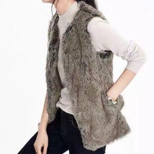 Banana Republic • Smokey Gray Faux Fur Vest
